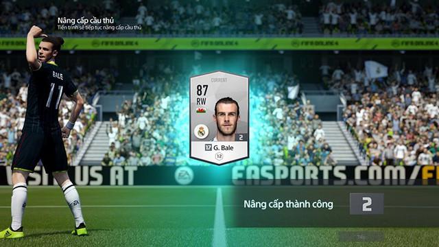 nâng cấp cầu thủ fifa online 4
